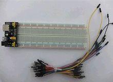 MB102 830 Tie Points Solderless PCB Breadboard MB-102 + 65PCS Jumper cable+Power diy electronics стоимость