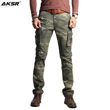 Männer Baumwolle Camouflage Cargo Hosen Große Größe Flexible Taktische Militärische Hosen Khaki Hosen Mann Hosen Streetwear Jogger