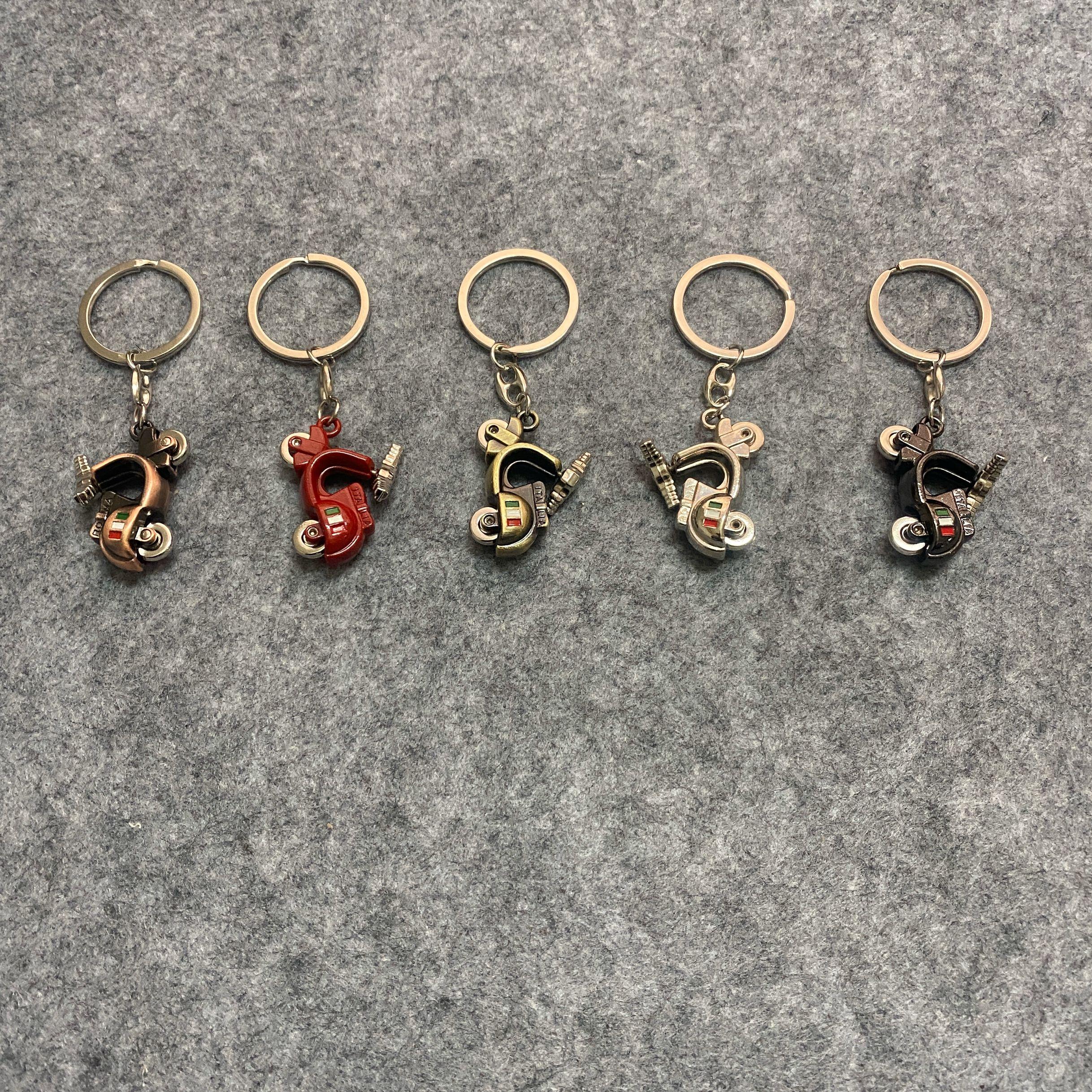 New CHROME Metal Piaggio Keyring key chain