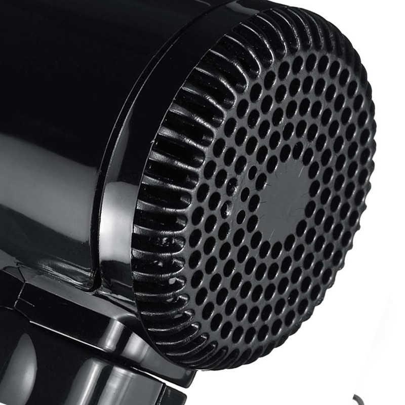 1 pc janela defloster cigarro isqueiro plug preto secador quente/frio dobrável viagem acampamento secador de cabelo do carro 12 v portátil