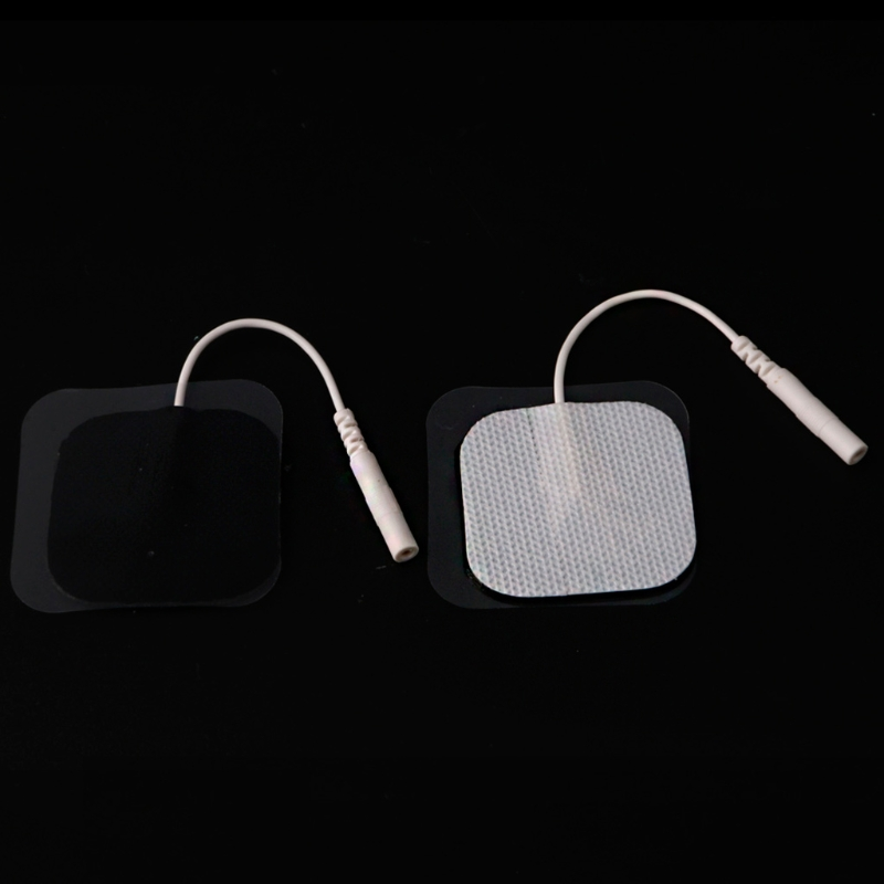 10Pcs Replacement Electrode Pad For Massagers /Tens Units Pads 4x4cm White Cloth