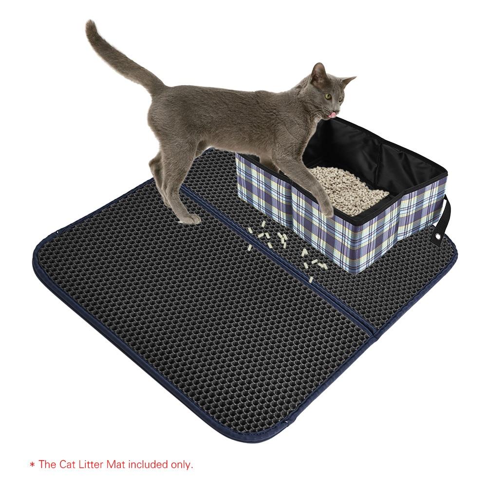 Премиум Коврик для кошачьего туалета Траппер коврик большой соты с водонепроницаемым базовым слоем EVA поролон 72x55 см/28x22 дюйма