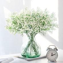 1pc 90 cabeças artificial flores de respiração do bebê gypsophila falso planta para o casamento buquês de noiva diy festa decoração de casa flor