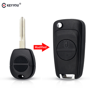 KEYYOU Modified Remote Car Key Shell Case 2 Buttons For Nissan Micra Almera Primera X-Trail Uncut Key Case Cover A33 Blade(China)