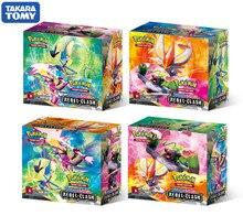 2020 novo 324 pçs caixa pokemon tcg: espada & escudo rebel clash booster caixa colecionável jogo de cartas de negociação conjunto pokemon cartas anime