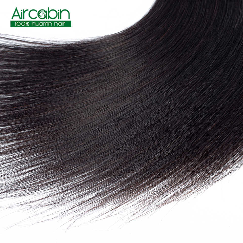 Бразильские прямые пучки волос с закрытием человеческих волос 3 пучка сделки с закрытием шнурка не Реми расширение натуральный черный
