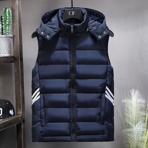 Image 1 - Plus Size 8XL 7XL 6XL 5XL 4XL 2019 New Casual Vest Men Autumn Jackets Thick Vests Man Sleeveless Coats Male Warm Waistcoat men