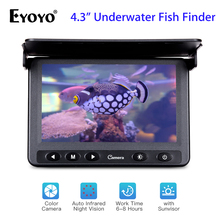 Eyoyo 1000TVL Underwater Camera Fishing Finder Video Fish Finder 4.3 inch LCD Monitor 15m Cable IR LED Visual Camera 20m professional fish finder underwater fishing video camera monitor 150 degree angle 4 3 inch lcd monitor with 20m cable new