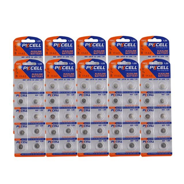 100 pièces/10 carte AG2 1.5V 396 SR726SW SR59 726 LR59 0% mercure bouton piles pour balles oeufs montres calculatrices télécommande