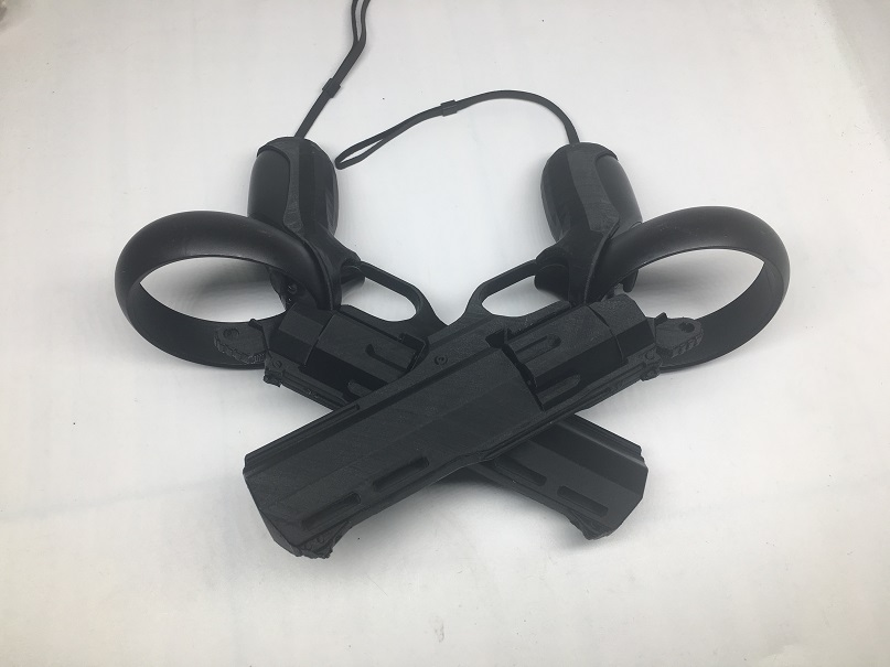 VR Headset Controller Game Shooting Gun For Oculus Quest / Rift S, Revolver Holster VR Shooting Model Gun, 3D Printing Products