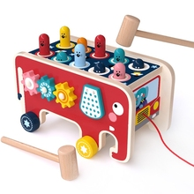 Toy Learning-Puzzle Whack-A-Mole Pounding Kids Wood Hamster OOTDTY Gifts Interactive-Game