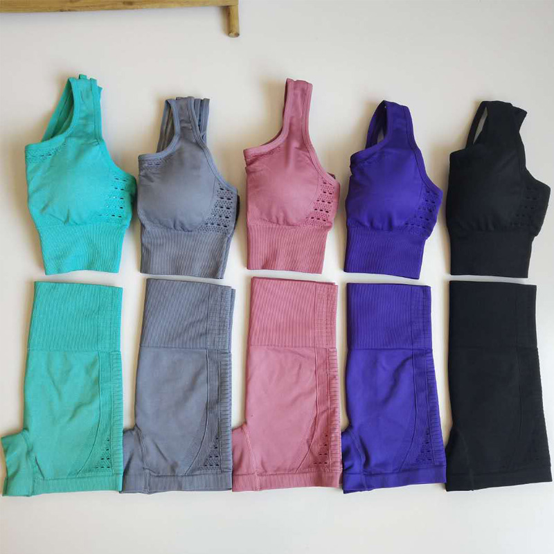 Yoga Shorts Sexy Seamless Shorts Women Sport Wear Fitness Short Pants Skinny Push Up Gym Clothing Solid Color Elastic Breathable