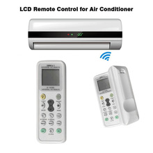Universal Lcd A/C Multi Remote Controller Rc 433 Mhz Frequency For Air Condition Conditioner Simple Operation Remote Control new for qunda gree lg chunlan gold universal air conditioner a c remote control 2000 in 1 lcd with multi function touch key
