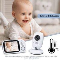 新しい VB603 3.2 インチ液晶ベビーモニター乳母温度監視子守唄 2 ウェイオーディオ Ir ナイトビジョン防犯温度カメラ