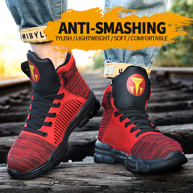 Winter Warm Work Safety Shoes For Construction Steel Cap Anti Smashing Toe Anti-puncture Fashion Sports Work Footwear