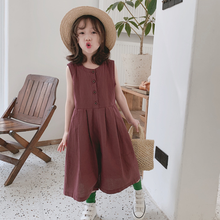 Mihkalev 2021 Kids Summer Linen Pants For Baby Girl Loose Jumpsuits Pants Children Casual Trousers Girls Clothing