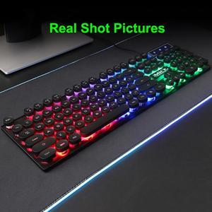 Image 3 - IMICE AK 800 clavier mécanique USB filaire sentiment 104 touches rvb rétro éclairé jeu Silicone claviers pour ordinateur portable PC de bureau