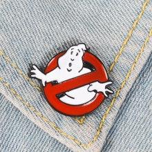 Эмалированная Заколка призрак белая брошь значок для сумки одежды