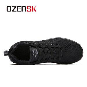 Image 2 - Ozersk 2020 Merk Mannen Casual Schoenen Ademende Lace Up Wandelschoenen Lichtgewicht Comfortabele Mesh Mannen Sneakers Schoenen Maat 39 ~ 45