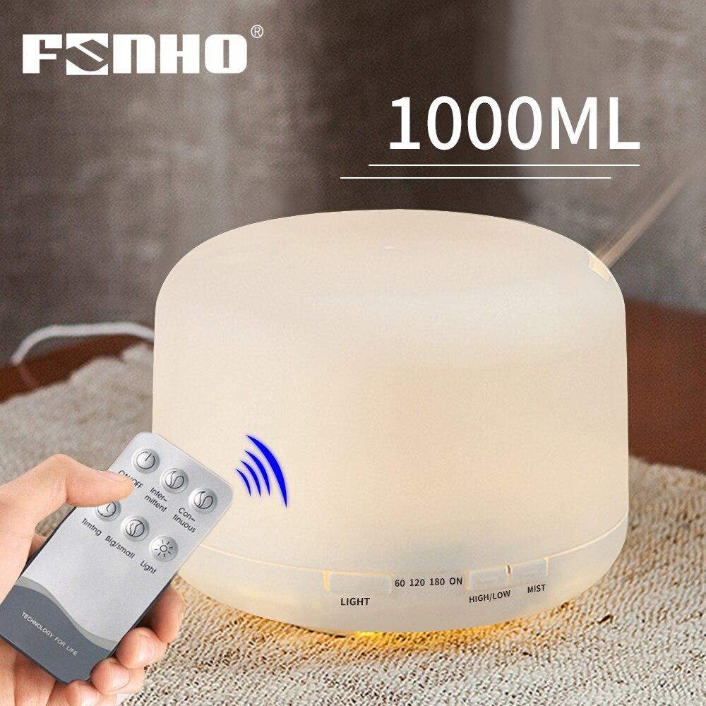 FUNHO 1000 мл увлажнитель воздуха аромадиффузор Ароматерапия Эфирные масла ультразвуковой увлажнитель тумана 7 светодиодный Цвет для дома|Увлажнители воздуха| | - AliExpress