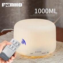 FUNHO 1000ml hava nemlendirici Aroma YAYICI aromaterapi uçucu yağlar ultrasonik nemlendirici sis makinesi için 7 LED renk ev