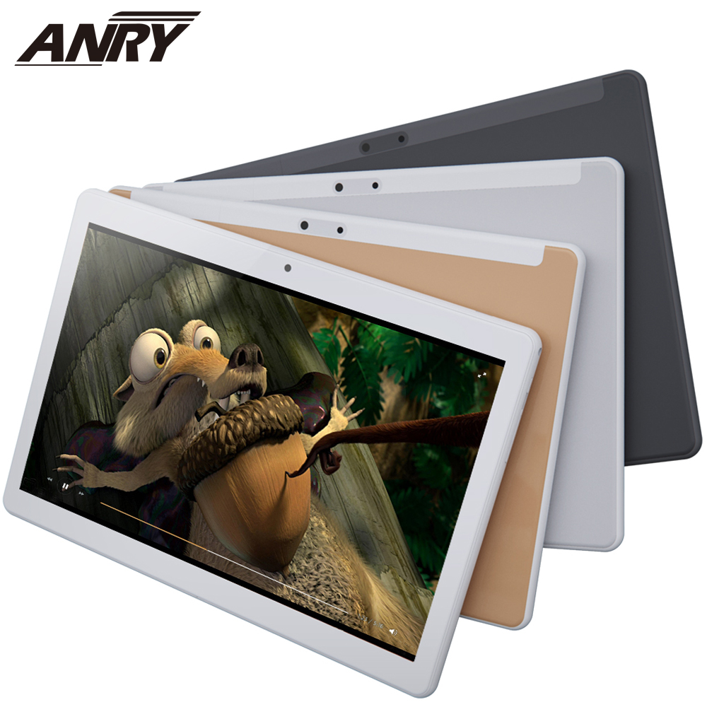 ANRY Android Tablet 10 Inch WiFi Tablet 4G Network Phone Call Tablet Pc Google Play Android 7.0 Dual Camera