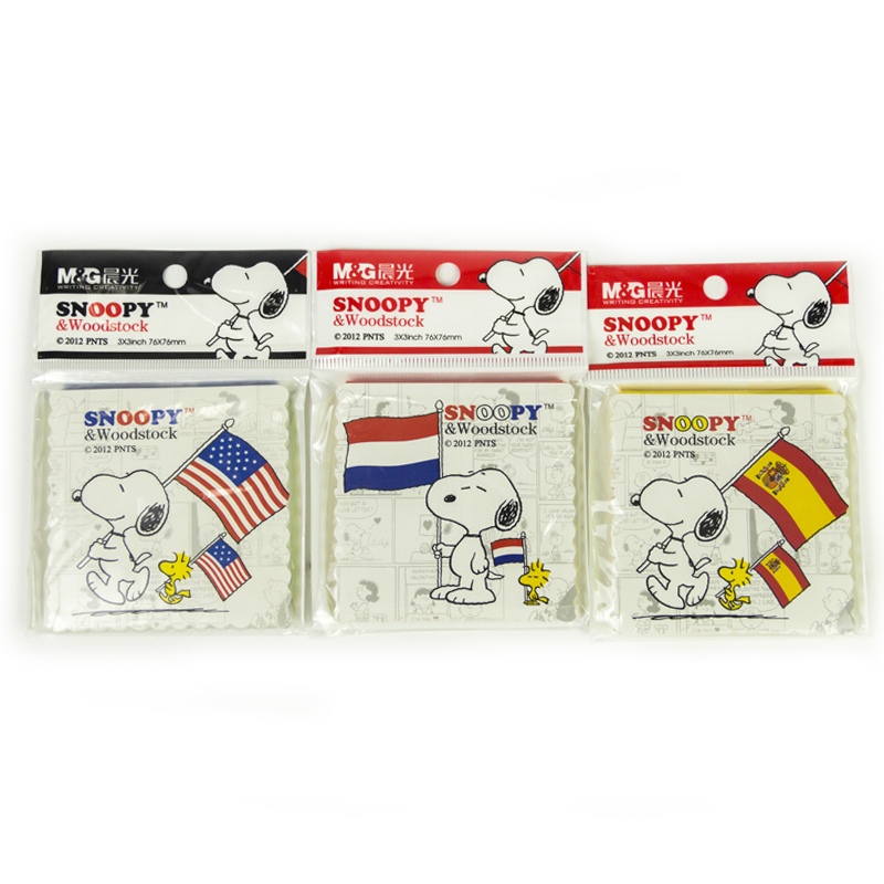Cute Kawaii Nation Flag US/France/Spain Sticky Notes  Memo Pad Planner Sticker Paper Stationery Office School Supply