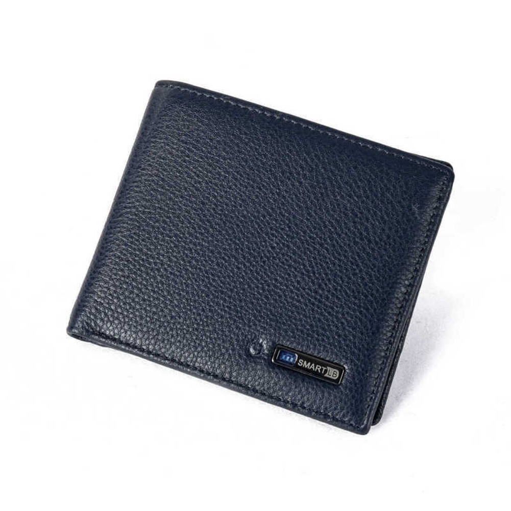 Short Wallet GPS Locator Bluetooth Tracker Anti-lost Anti-theft Artificial Cowhide Leather Purse Fabala Smart