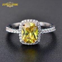 Женское кольцо из серебра 925 пробы с цитрином сапфиром и изумрудом