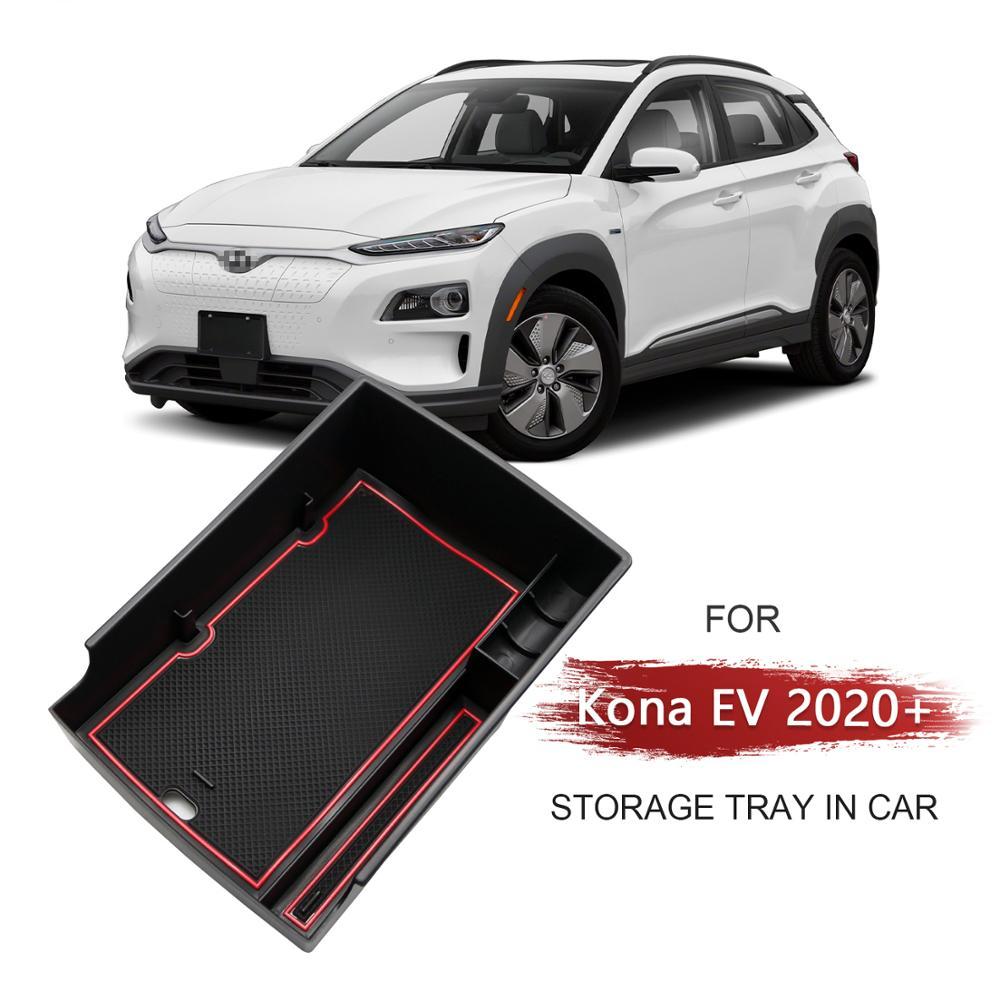 Lfotpp caixa de armazenamento braço para kona elektro/kona ev 2020 versão elétrica caixa de armazenamento controle central acessórios interiores automóveis