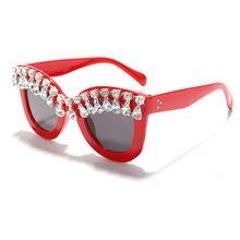 Роскошные солнцезащитные очки Стразы Женские винтажные брендовые