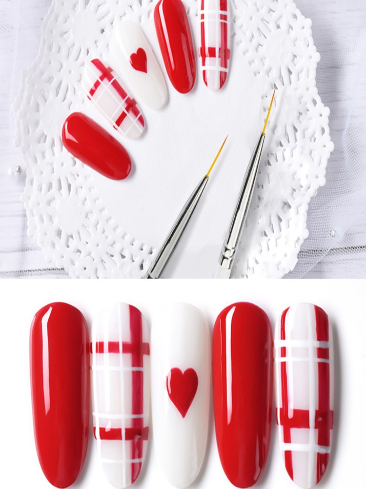 Line Painting-Brushes Manicure-Tools-Set Drawing-Pen Crystal Nail-Art Acrylic Fashion