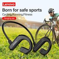 Lenovo-auriculares inalámbricos X3 con Bluetooth, cascos deportivos de conducción ósea, impermeables, para correr, estéreo, manos libres con micrófono