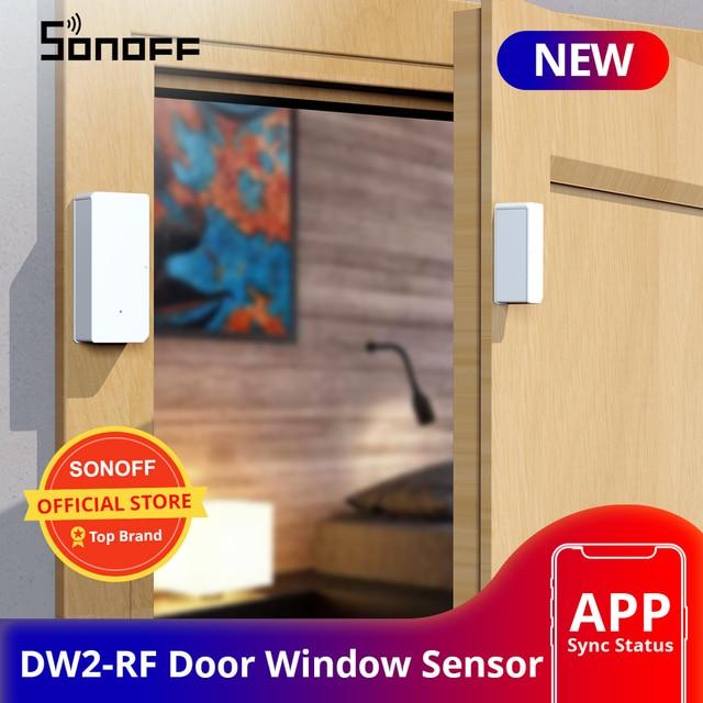 SONOFF DW2 RF 433Mhz Wireless Door Window Sensor App Notification Alerts For Smart Home Security Alarm Works SONOFF RF Bridge