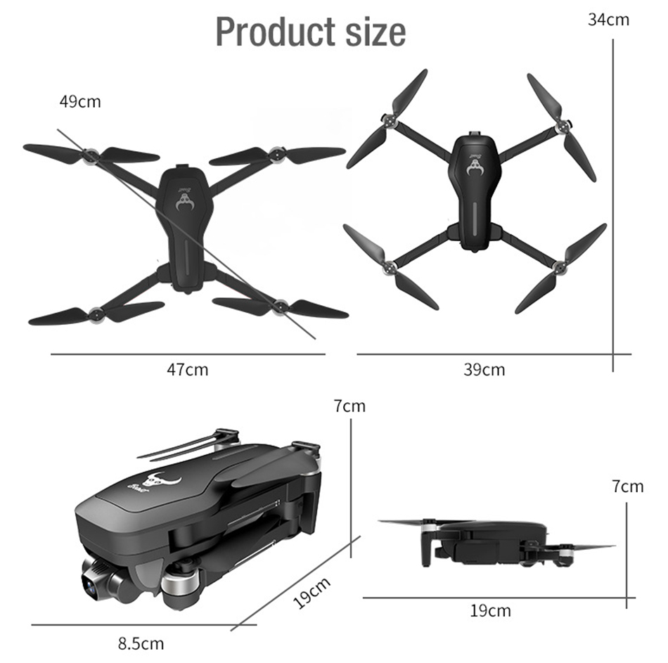 GPS Drone 4K HD Dual Camera SG906Pro Drone profissional two axis stabilizer&Zoom ESC Camera Brushless Motor RC Quadrocopter Dron