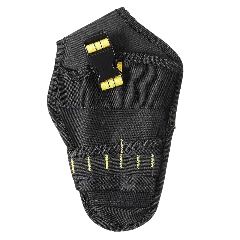Promotion! Heavy-Duty Drill Leather Case Tool Belt Pouch Bit Leather Case Hanging Waist Bag Drill Tool Storage Bags