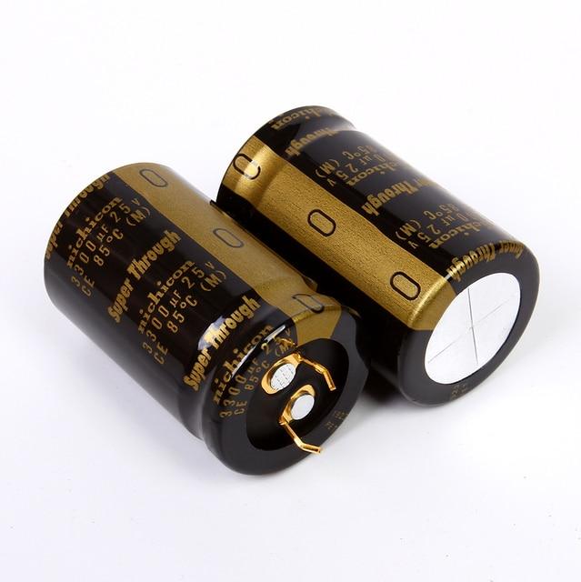 2PCS NICHICON KG סופר דרך 25V3300UF 20x30mm סוג III 3300UF 25V אודיו מגבר סינון 3300 UF/25 V זהב רגליים 3300U