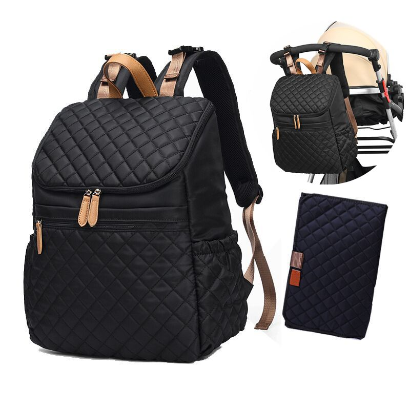 Baby Diaper Bag Backpack+Changing Pad+Stroller StrapsDiaper Bags   -