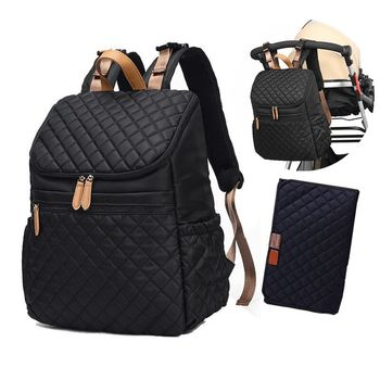 Baby Stuff Baby Travel Diaper Bag Backpack Stroller Organizer Nappy Bags +Changing Pad+Stroller Straps insular baby diaper backpacks nappy bags changing multifunctional bags for mommy baby stroller bags for storage shipping free