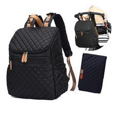 Bebek bezi çantası sırt çantası + değişen ped + arabası sapanlar