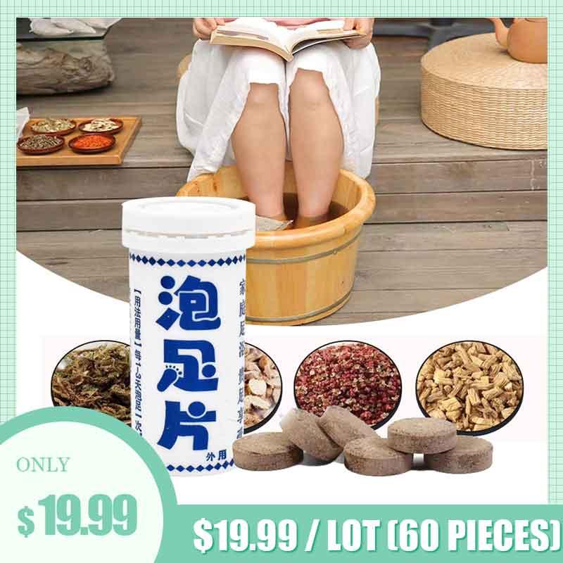 60 sztuk anti-grzybicze Detox Foot Soak zmniejsza ból zapalny i swędzenie zmiękcza odciski modzele i kwadratowe obcasy pękanie swędzenie