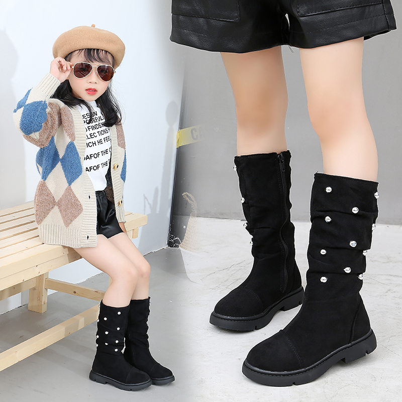New Girls Children's Princess Boots Kids Baby Newborn High Boots Autumn And Winter Fashion  Kids Boots Girls