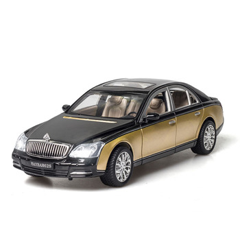 1:24 Alloy Car Toy Diecast Metal Toy Vehicle Maybachs-62S Car Model Decoration Sound And Light Car Doors Open For Kids Birthday maisto 1 24 2009 gtr35 white car diecast for nissan police open car doors car model motorcar diecast for men collecting 32512
