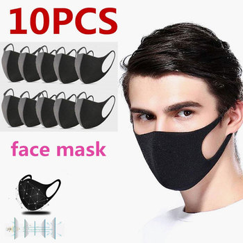 10pcs Men/women Winter Mask Dustproof Mouth Face Mask Anime Cartoon Bear Women Men Muffle Face Mouth Masks  Proof Flu Face Masks