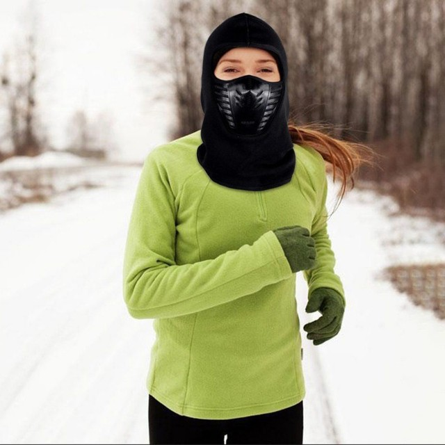Outdoor Winter Warm Motorcycle Full Face Mask  Bicycle Bike Climbing Ski Windproof Carbon Filter Mask Balaclava Head Protector 1