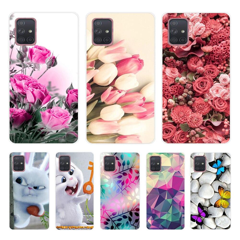 6.4'' For Samsung A50 Case Silicone Soft TPU Phone Case For Coque Samsung Galaxy A51 A71 M31 A50s A30S Case Cover A505F A505