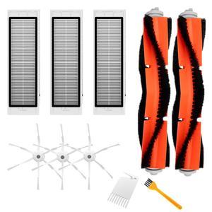 10 pçs escova lateral com filtro hepa e escova principal para xiaomi robô aspirador de pó acessórios