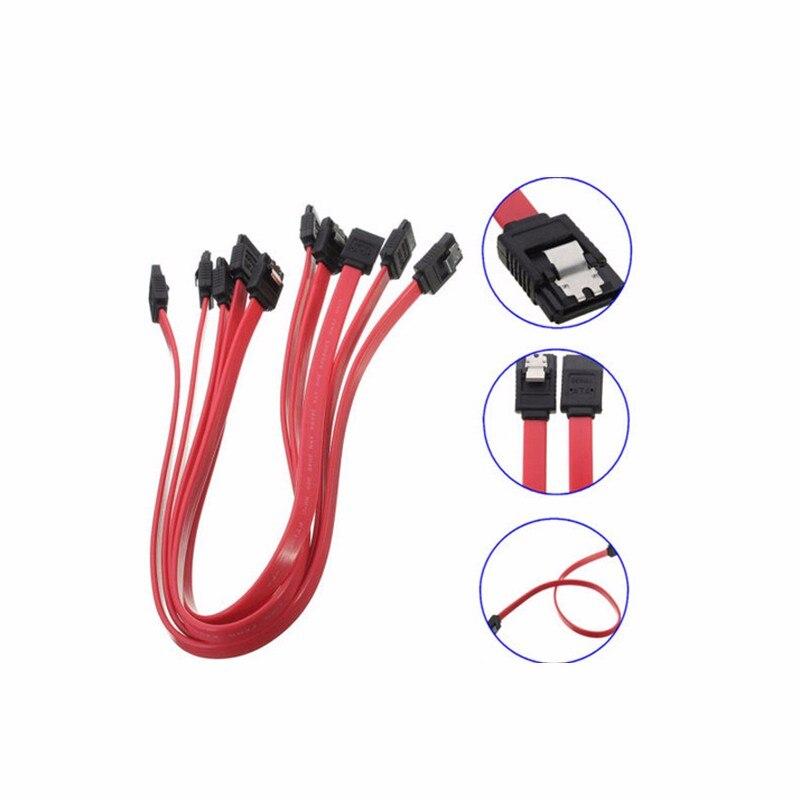 1/3/5/10pcs 39cm Serial ATA SATA 3 RAID Data HDD Hard Drive Disk Signal Cables Yellow Red Straight High Speed SATA Data Cable