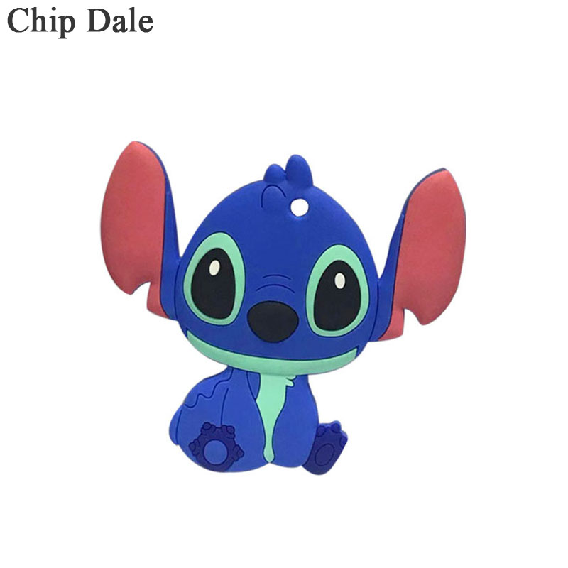 Chip Dale 5pcs Silicone Teether Pendant Bear Baby Teether Toy BPA Free Chewable Silicone Teething Toys For Infant Gift Baby Care