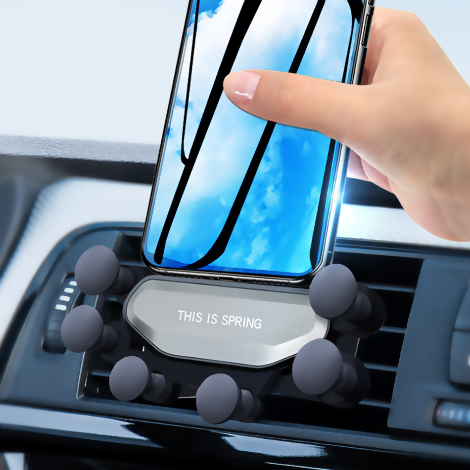 Gravity Car Phone Holder For Phone In Car Air Vent Clip Mount  Mobile Phone Cell Stand Support держатель для телефона в машину